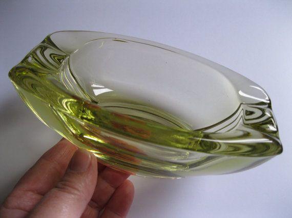 Modernist retro vintage  Art Glass Bowl  by 20thCenturyStuff