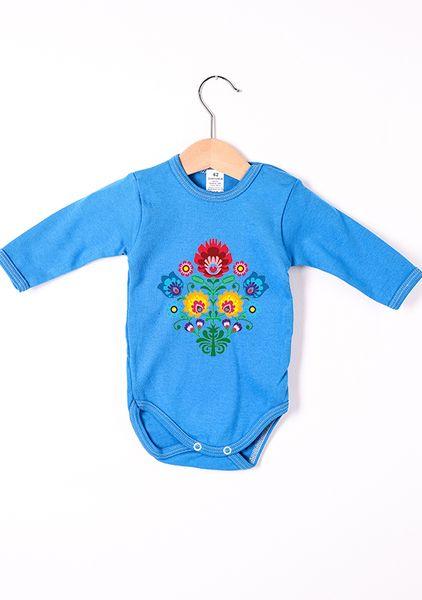 Body dziecięce, długi rękaw z nadrukiem Folk w Allbag-Allprints na DaWanda.com
