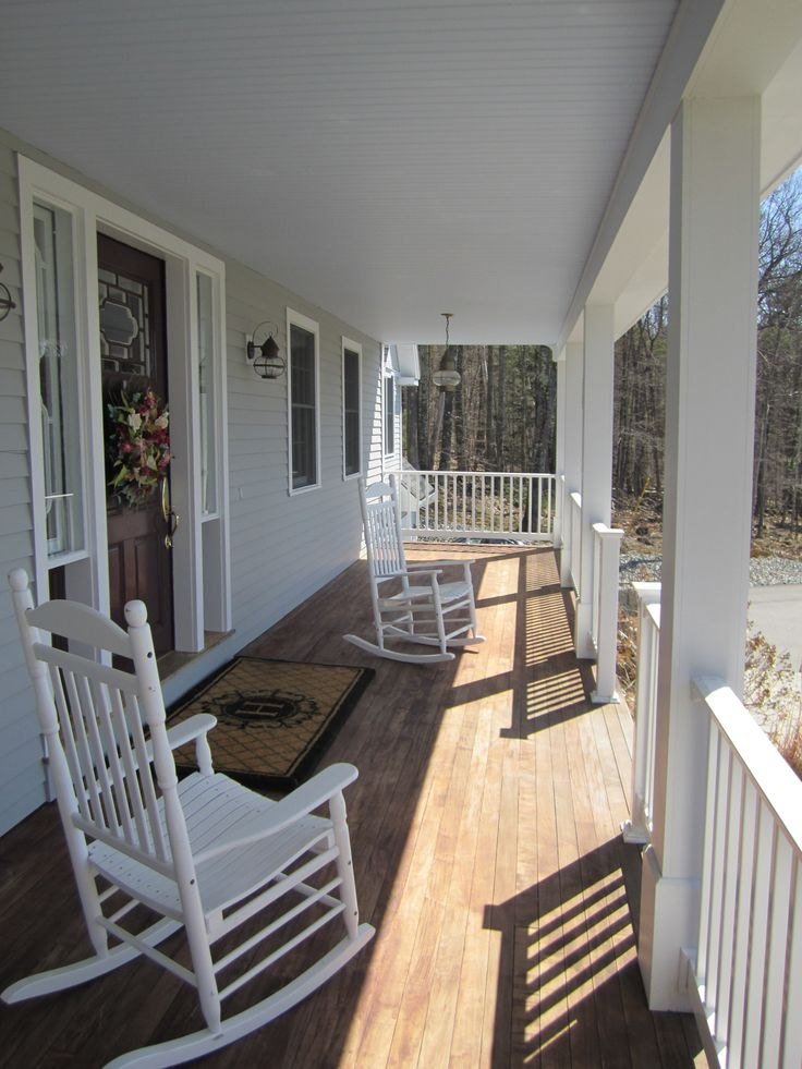 Farmer's Porch at this country retreat in New Hampton, NH. For sale at www.newenglandmoves.com/Dean.Eastman