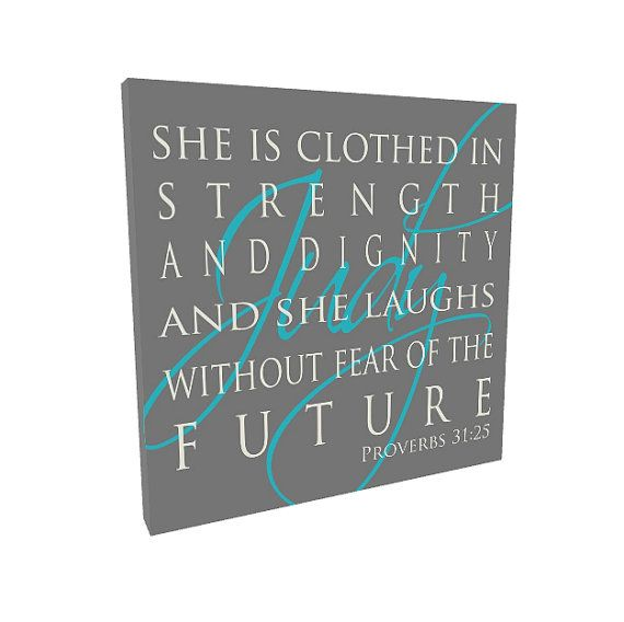 She Is Clothed With Strength And Dignity Canvas: She Is Clothed In Strength And Dignity Baby By