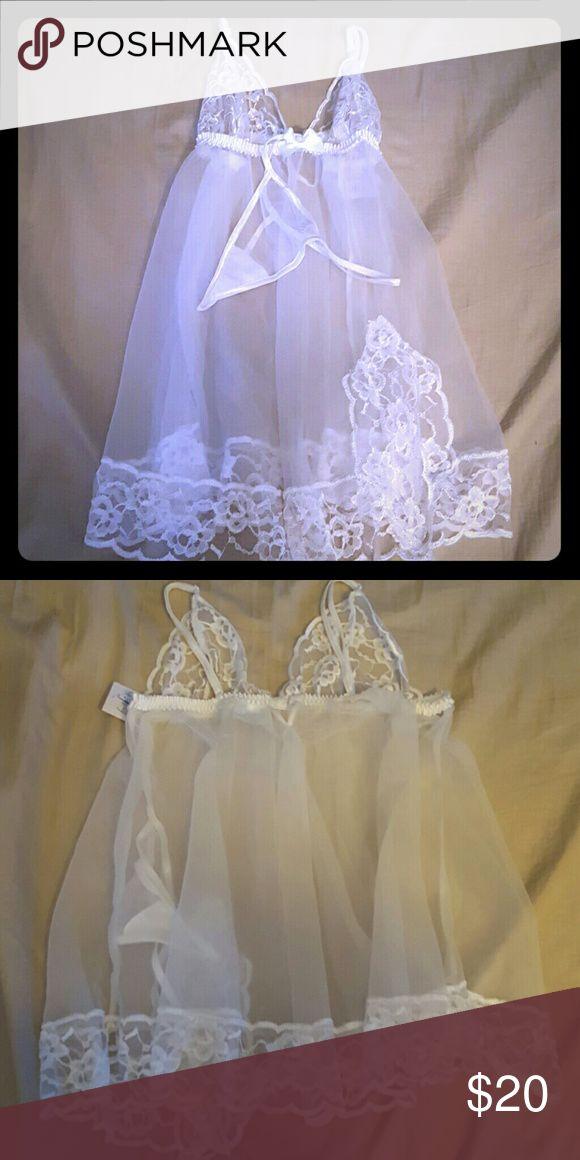 Fredericks of Hollywood Lingerie Brand new white lingerie Frederick's of Hollywood Intimates & Sleepwear