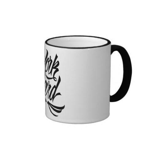 Work Hard Mug available at www.zazzle.com/letterhype #lettering #letterhype #WorkHard #calligraphy