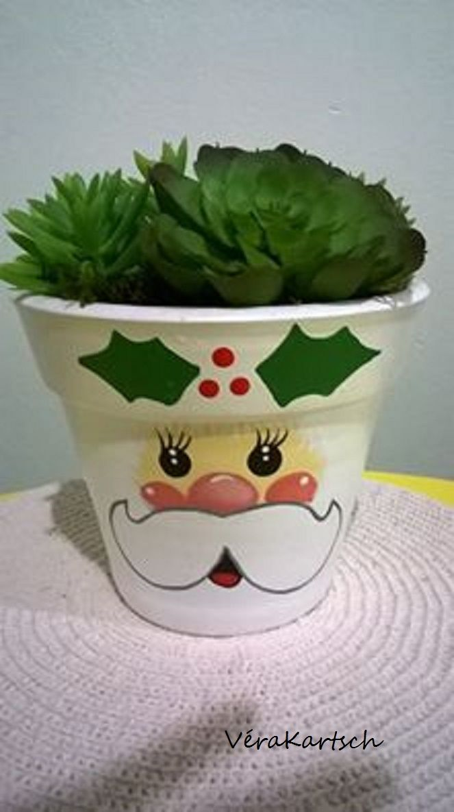 Feito por mim! Vaso de cerâmica pintado...