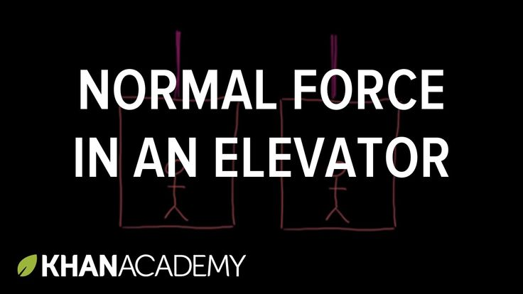 Normal force in an elevator | Forces and Newton's laws of motion | Physi...
