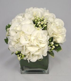 White Wedding Flowers Arrangements Beautiful Bouvardia designed by Pollen Floristry at My Wedding Flower Ideas Magazine