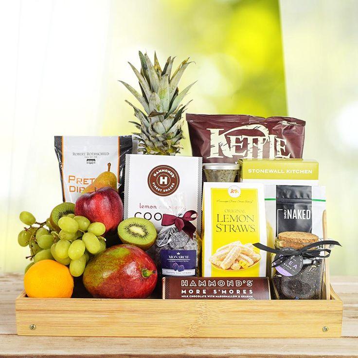 Delightful fruit snack basket in 2020 gourmet gift
