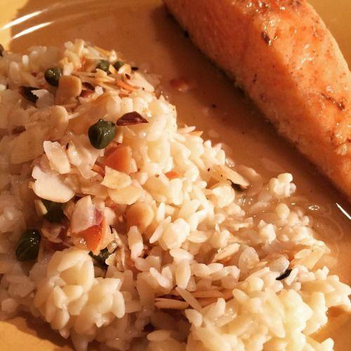 cuisinedemememoniq:saumon et rizoni aux amandes#saumon #poisson...