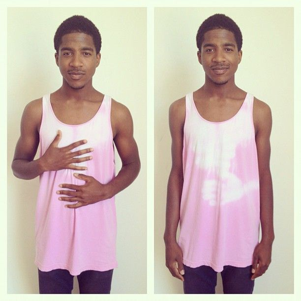 Patrick in the Thermochromatic Tank. #AmericanApparel #summer #tanktops