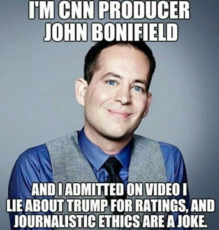 "CNN producer John Bonifeld, who says journalistic ethics are a joke... ""Foul deeds shall rise, tho' all the earth doth o'erwhelm them to men's eyes...!"""