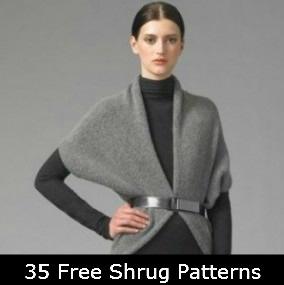 35 Free Shrug Patterns