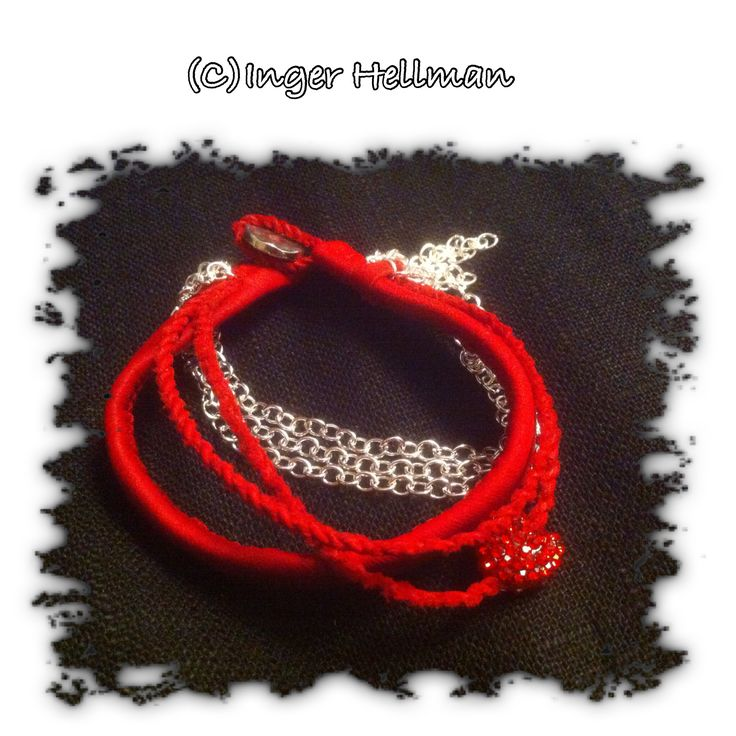 Red leather from reindeer - bracelet for a special person.