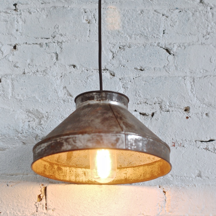 Vintage Upcycled Industrial Sifter Light by thevintagetreehouse, $62.50