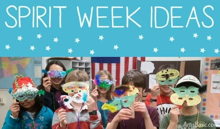 15 Spirit Week Ideas for School - Art is Basic