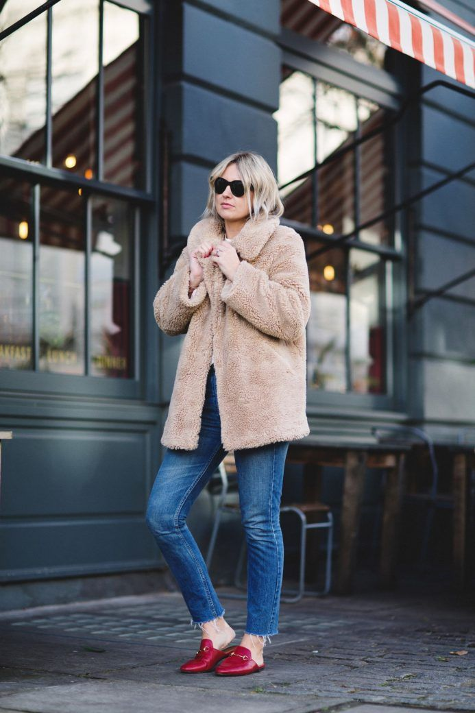 EMMA THATCHER FROM FASHION BLOG A STYLE ALBUM WEARING TOPSHOP LUCY TEDDY BEAR COAT