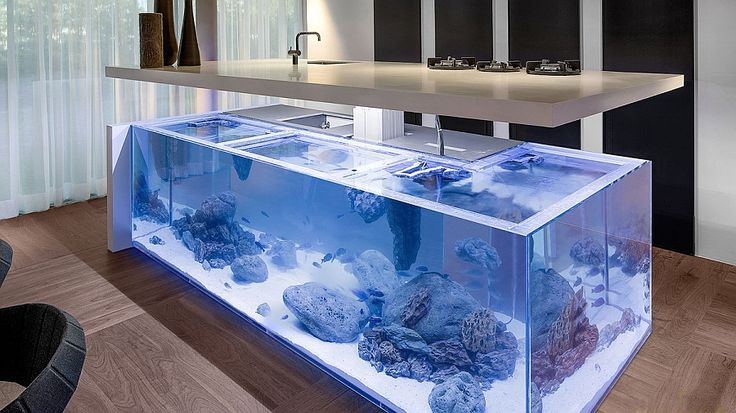 Amazing Aquarium Kitchen Island brings ocean to the kitchen 10 Amazing Kitchen Islands and Counters That Steal the Show