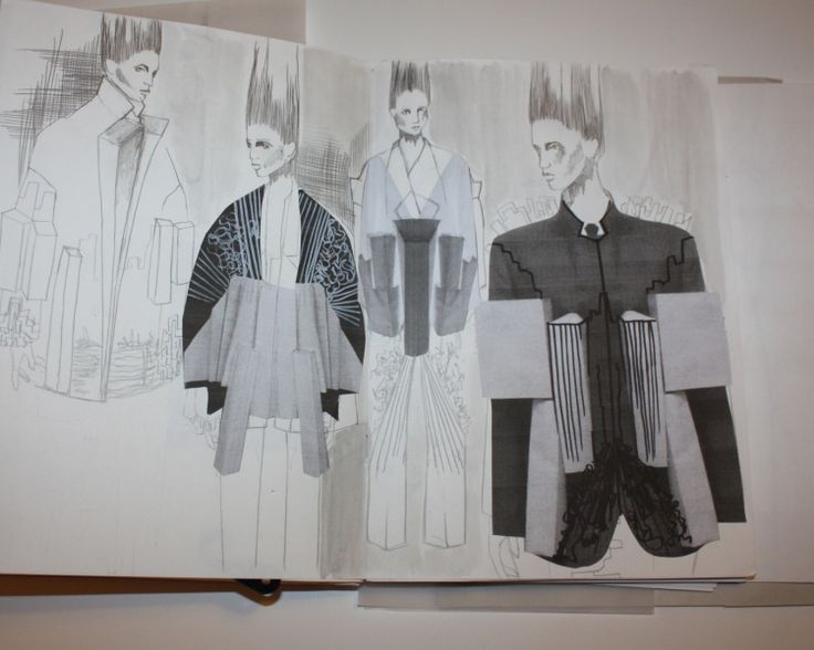 Fashion Sketchbook - architectural fashion design development; fashion illustrations; fashion portfolio // Ernesto Naranjo