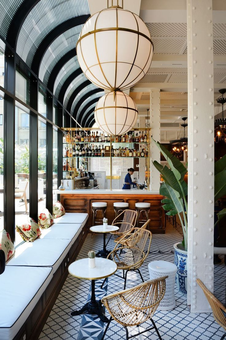 Cotton house hotel in barcelona combines beautiful for Modern neoclassical interior design
