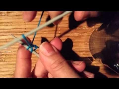 Montage élastique pour les chaussettes en tricot par Artisanat du Nord - YouTube