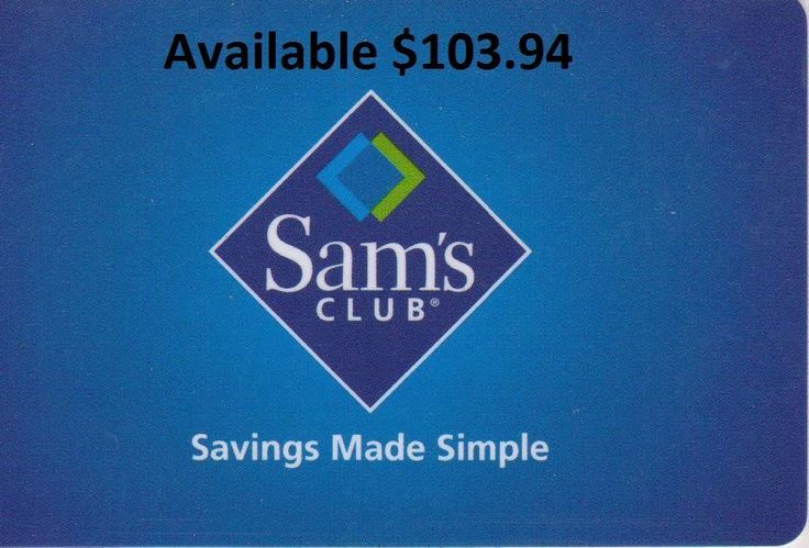 Walmart Sam's Club Gift Card or in Store Credit or Online $103.94 Free Shipping