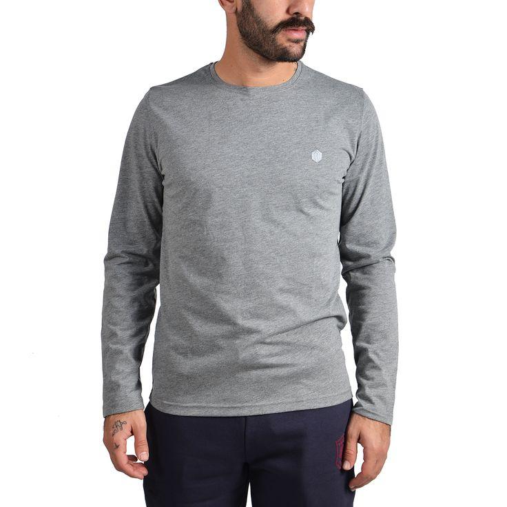 Brotherhood Logo Melange Longsleeve Αθλητικα Ρουχα – Sportswear – Ανδρικά Διατίθεται από το CosmosSport.gr