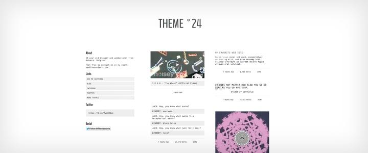 Tumblr Themes - Theme °23