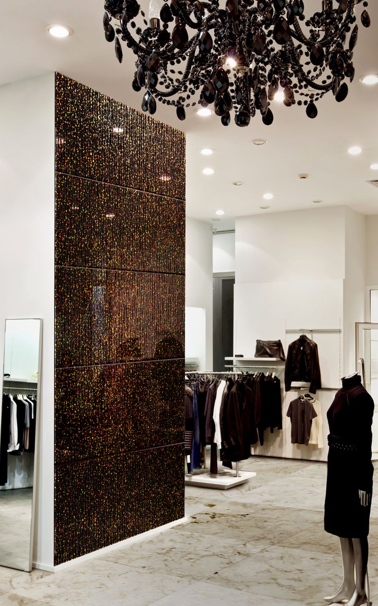 Glamour - a fashionable wall for a luxurious boutique.