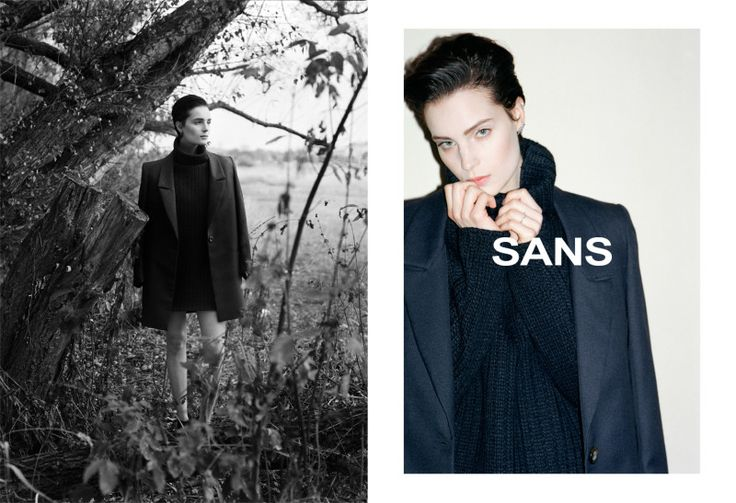 SANS, aw 2015 campaign by Bartek Wieczorek / LAF Artists Management. To download high or low resolution product images view Mondrianista.com (editorial use only).