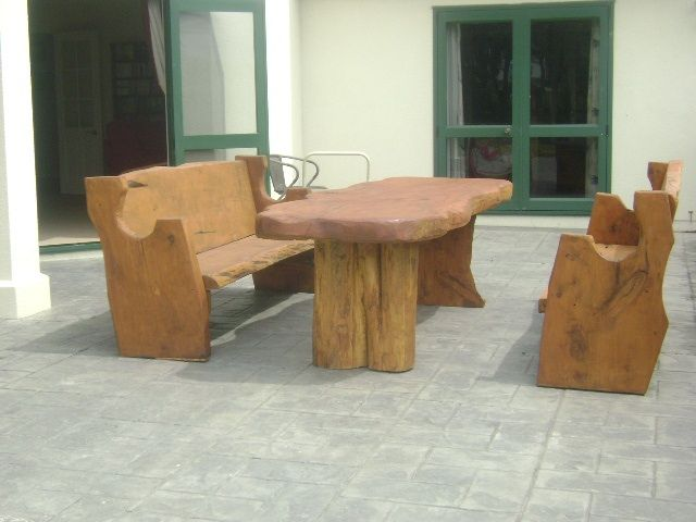 Church Style Outdoor Table and Chairs Setting 2m $1800 2.4m $1940 3m $2500 - http://www.macsmacrocarpa.co.nz/page10.html
