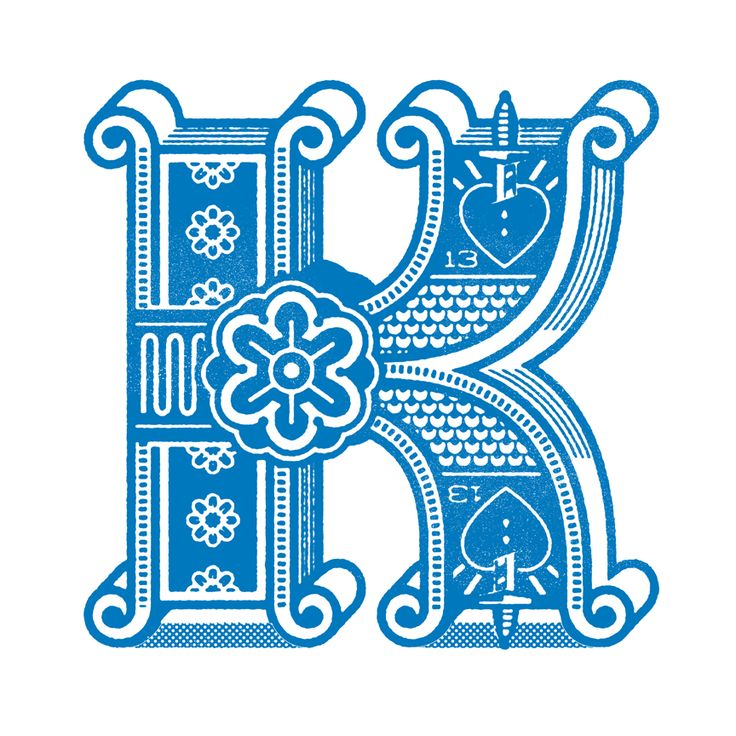 K by Ron Lewis #typography #letter #lettering