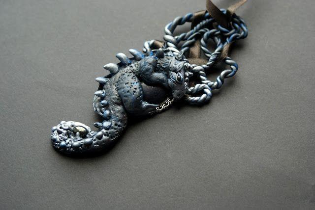 Fantasy Polymer Clay Necklace