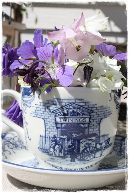 Love this idea cup full of flowers great in kitchen 86 best  cute kitchen tea ideas   gifts  images on Pinterest  . Great Kitchen Tea Gift Ideas. Home Design Ideas