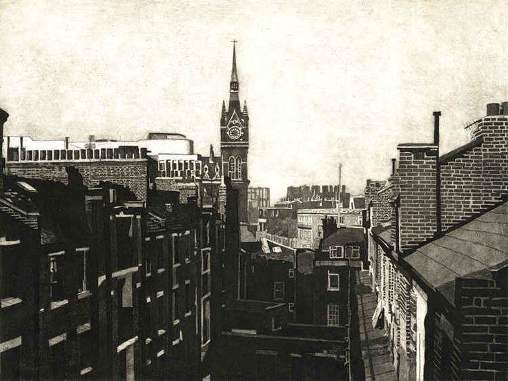 London Skyline Victorian Filekings Cross 1