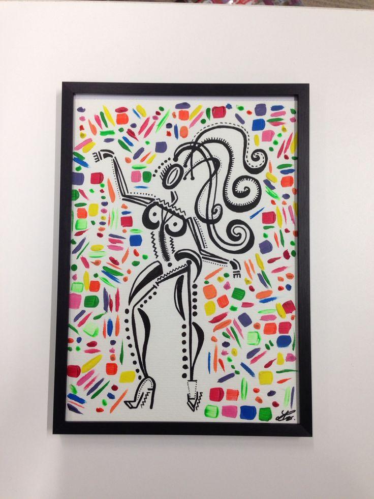 """Popo""  #lesballetgirls #alexandrinecomte #danseclassique #peinture #supernanas #couleurs #femmes"