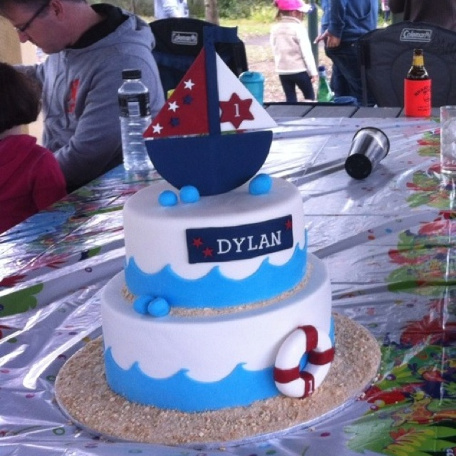 Boat theme cake  Showtoppers Cakes  Pinterest  Boats, Cakes and ...