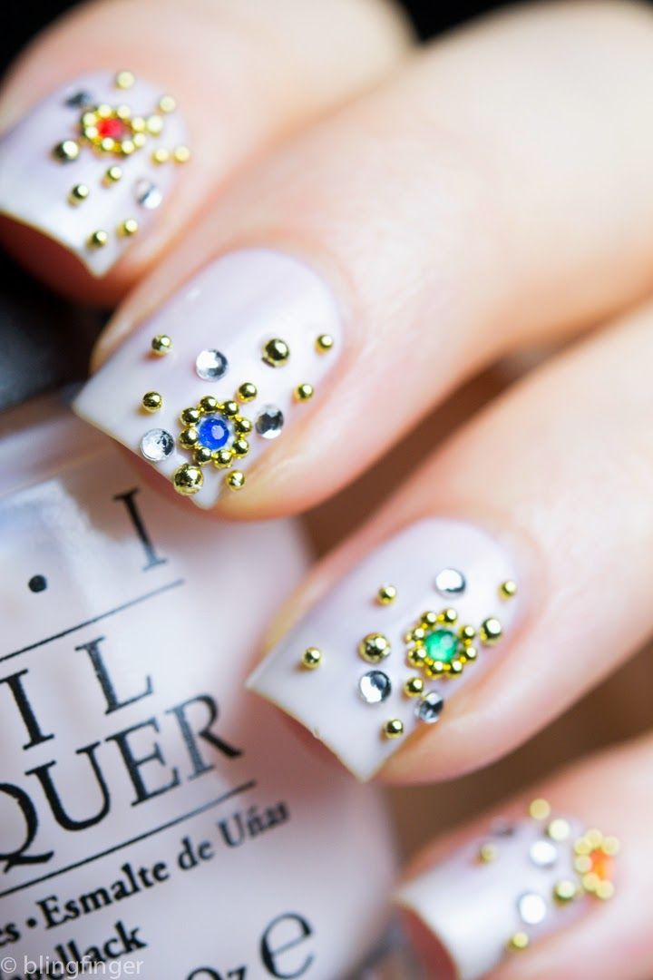 OPI Act Your Beige! with Crystal Cluster