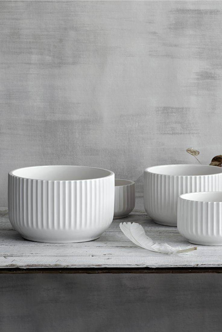 Our original Lyngby bowls in white porcelain.