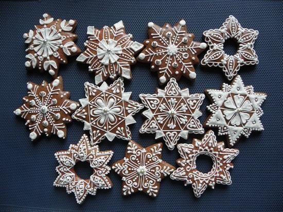 sněhové vločky a hvězdy | Perníky