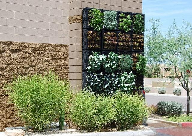 Completed Vertical Vegetable Garden, via Flickr.