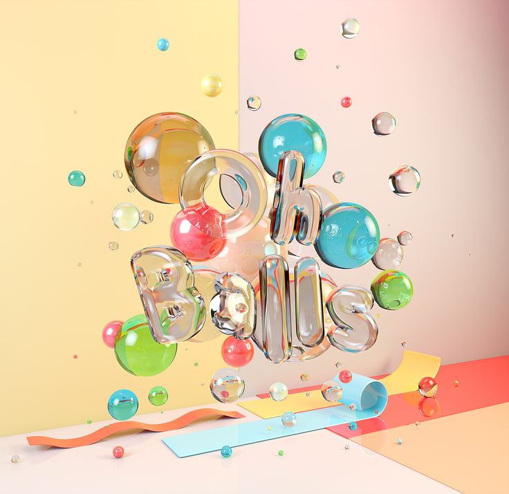 CG Typography - Oh Balls! on Behance