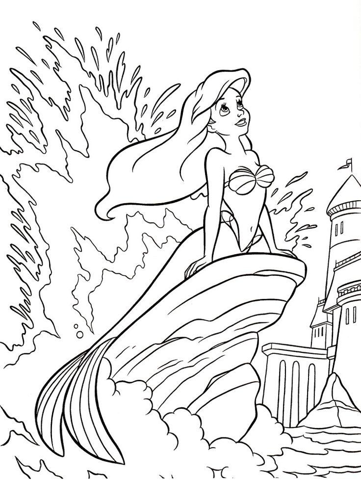 Princess Ariel Walt Disney Coloring Pages