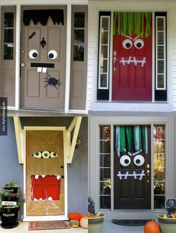 Ein bisschen Inspiration für Halloween: in 15 Minuten 1 Monstertür :)