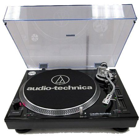 Audio-Technica AT-LP120-USB Direct-Drive Professional Turntable BLACK. Selectable internal stereo phono preamplifier and USB connection to your Mac or Windows computer. Direct-drive, high-torque motor, includes professional cartridge and head-shell. S-shaped tone arm assembly.FREE DELIVERY $341.90