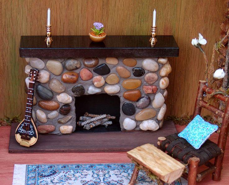 21 best Dollhouse Fireplace images on Pinterest | Dollhouse ...