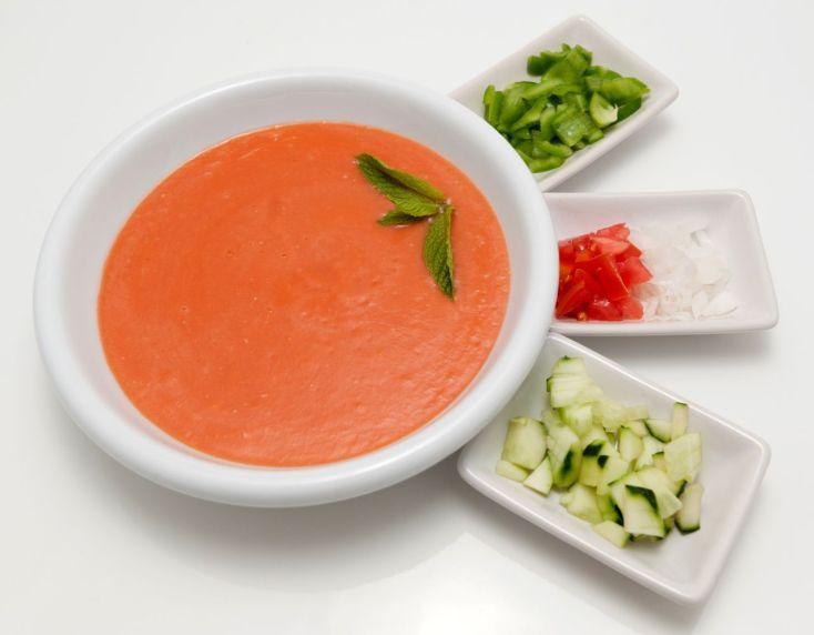 Španielska paradajková polievka (gazpacho)