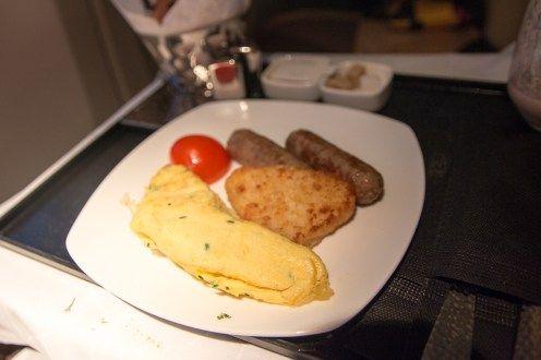 Frühstück in der Etihad Business Class