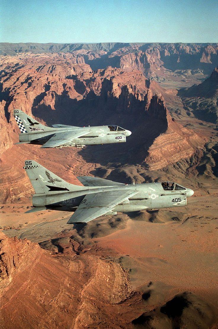 Two A-7 Corsairs aka SLUF short little ugly ...fellows