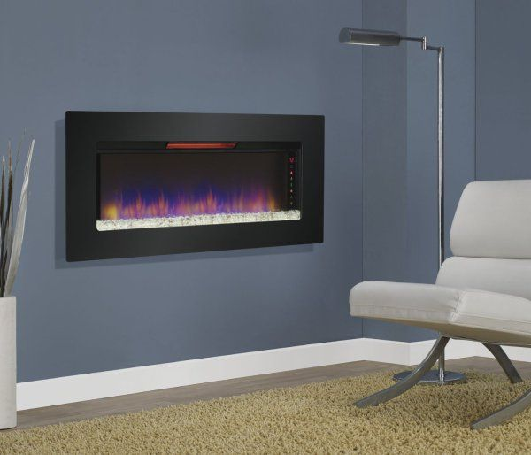Amazing Wall Mounted Fireplace Reviews Part - 5: Classic Flame Felicity Infrared Wall Hanging Electric Fireplace - The  Classic Flame Felicity Infrared Wall Hanging Electric Fireplace With  Optional Base ...