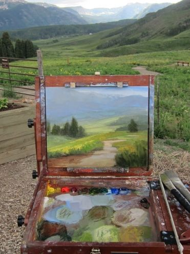 Wildflower season in Crested Butte, Colorado, painting by artist Jane Hunt