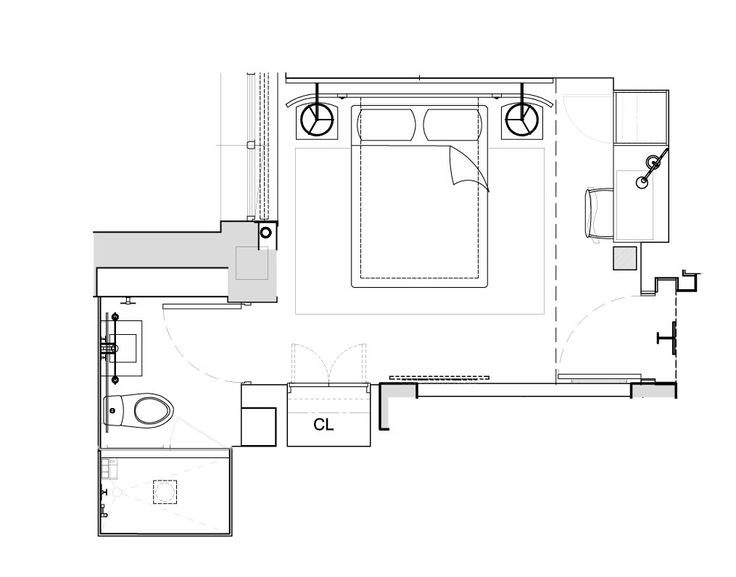1 Hotels Central Park Alcove Queen Floor Plan