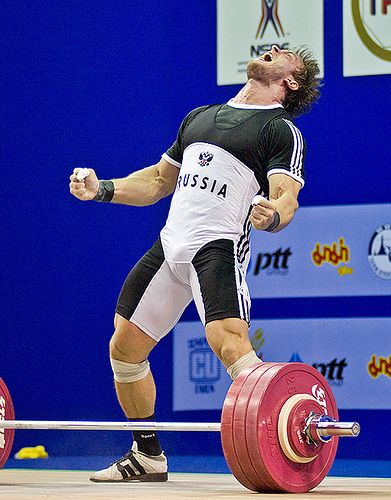 DMITRIY VYACHESLAVOVICH KLOKOV (Russian: Дмитрий Вячеславович Клоков) (b 1983 in Balashikha RUSSIA) is a weightlifter who is 182 cm tall. He is the son of World Champion Vyacheslav Klokov, who also competed in the Heavyweight category. Mr. Klokov is married to Elena Klokova and has a daughter.